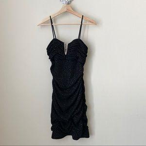 Adrianna Papell Hailey black sparkly dress